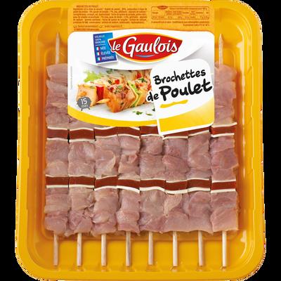 Brochette poulet/tomates, LE GAULOIS, 8 pièces
