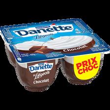 Danone Dess.lacté Au Chocolat Danette Le Liégeois 4x100g Prix Choc