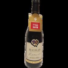 Vin rouge AOP Beaujolais tradition Domaine du Grand lièvre, 2016, 75cl