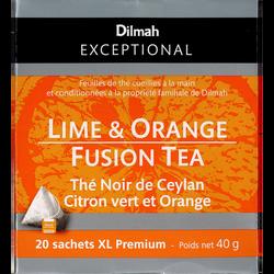 Thé noir de Ceylan citron vert et orange DILMAH, sachet 40g