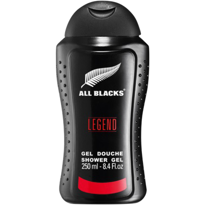Gel douche pour homme legend ALL BLACKS, flacon de 250ml