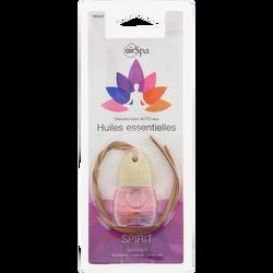 Flacon parfumé Spirit à suspendre, AIR SPA, à base d'huiles essentielles d'eucalyptus, lavande et citron vert