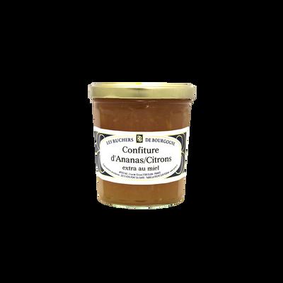 Confiture ananas citron au miel RUCHERS DE BOURGOGNE, 375g