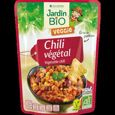 Haricot rouges cuisinés légs soja chili bio JARDIN BIO 250g