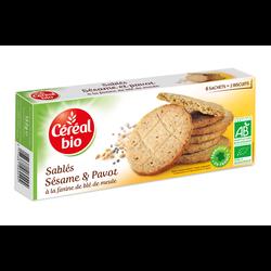 Biscuit pavot sésame CEREAL BIO 132g