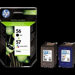 Pack cartouches d'encre HP pour imprimante, SA342AE n°56 + 57, sous blister