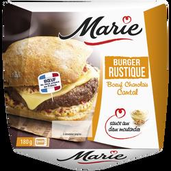 Burger rustique boeuf charolais cantal sauce aux deux moutardes MARIE,180g