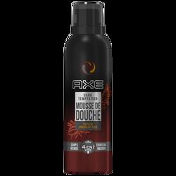 Mousse de douche dark temptation parfum chocolat noir AXE, flacon de 200ml