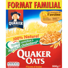 Céréales flocons d'avoine, QUAKER OATS, format familial