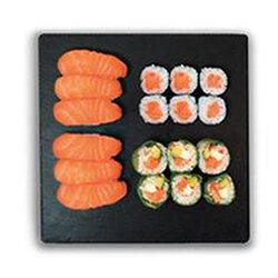 Sushi passion 6 sushi saumon, 6 maki de printemps saumon, 6 maki saumon 350g SUSHIMARKET