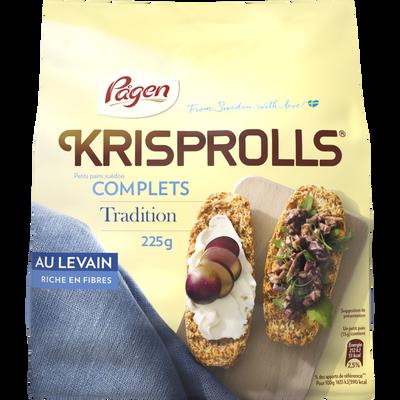 Pains grillés suédois complet tradition levain KRISPROLLS, 225g