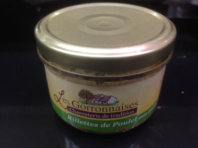Conserves rillettes de poulet, LES GORRONNAISES, 200g