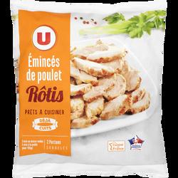 Emincés de poulet rôtis cuits surgelés U, 500g