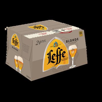 Bière blonde ABBAYE DE LEFFE, 6,6°, pack 24x25cl