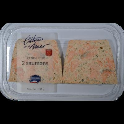 Terrine aux deux saumons, transformé en France, barquette 150g