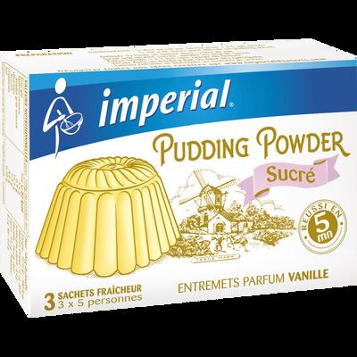 3 pudding sucré vanille IMPERIAL, étui de 180g