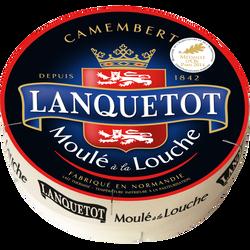 Camembert au lait thermisé 22% de matière grasse LANQUETOT, 250g