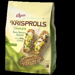 Pain grillé suédois complet sans sucre KRISPROLLS, sachet de 425g
