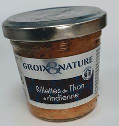 Rillettes de thon a l'indienne 100g, produits de BRETAGNE, GROIX ET NATURE