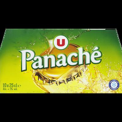 Panaché mélange  de boisson gazeuse aromatisée et de bière 10x25cl