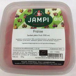 Crème glacée BIO plein fruit fraise, JAMPI, 550 ML