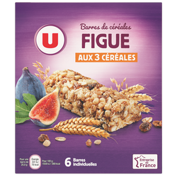 Barres de céréales figue U, x6 soit 125g