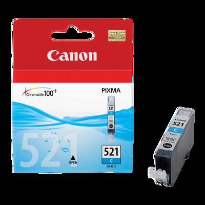 Cartouche d'encre CANON pour imprimante, CLI 521C cyan, sous blister