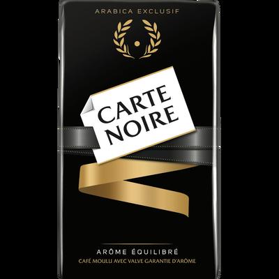 Café moulu arabica CARTE NOIRE, paquet de 250g