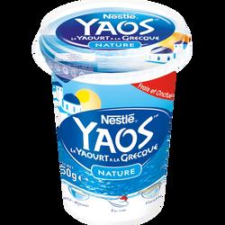 Yaourt yaos nature brassé à la grecque NESTLE, pot de 450g