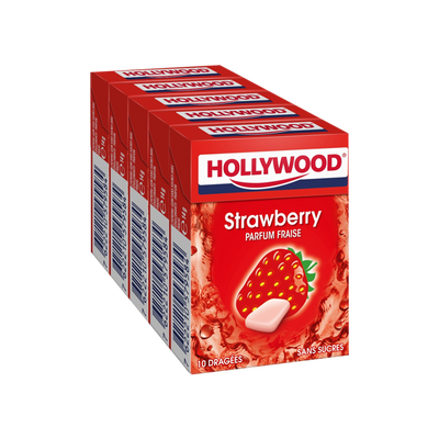 HOLYWOOD fresh fraise sans sucre 5x14 dragés 70g
