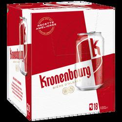 Bière blonde KRONENBOURG 4,2° can 18x33cl