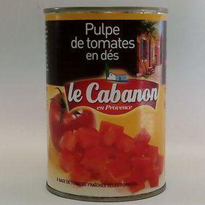 PULPE TOMATE EN DES LE CABANON