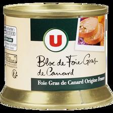 Bloc de foie gras canard U, boîte sans tir Up empilable, 150g