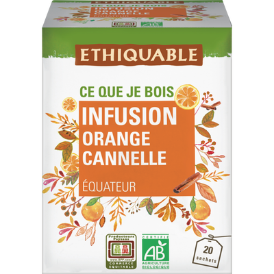 Infusion orange cannelle equateur bio ETHIQUABLE, 30g