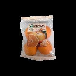 Orange Lane Late, U BIO, calibre 4/5, catégorie 2, Espagne, sachet 4 fruits