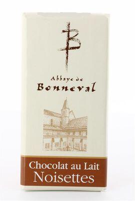 chocolat au lait noisettes de l'Abbaye de Bonneval plaquette de 100g