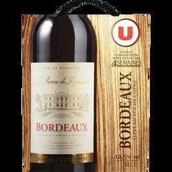 Vin rouge AOP Bordeaux fût de Chêne La Pierre de Peyssard U, fontaineà vin de 3l