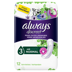 Serviettes incontinence normal ALWAYS, paquet de 12