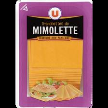 Fromage de Hollande à pâte pressée en tranches Mimolette au lait pasteurisé U, 24% de MG,  200g