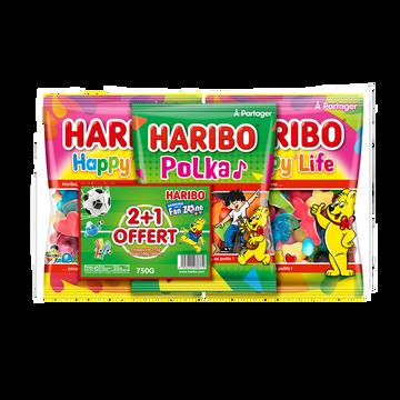 Haribo Happy Life X2+ Polka X1 Haribo 750g