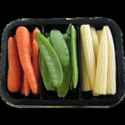 Mini légumes (mini maïs/mini carotte/mini pois gourmand), Kenya, barquette 200g