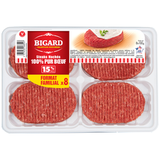Bigard Steak Haché, 15% Mat.gr., , France, 8 Pièces, 800g