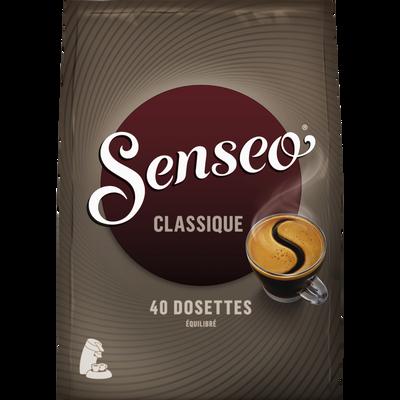 Café classique SENSEO, 40 dosettes souples, soit 277g