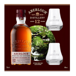 Scotch whisky  Double Cask 12ans ABERLOU ,40°, 70cl+coffret 2verres