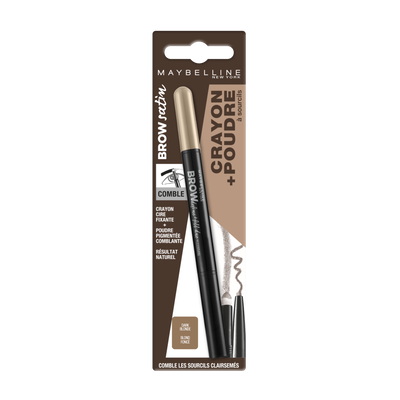 Crayon à sourcils brow satin duo blister MAYBELLINE