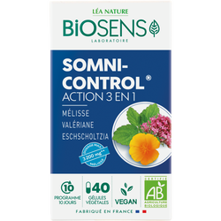 Gélules végétales somni control bio BIOSENS x40