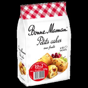 Bonne Maman Petits Cakes Aux Fruits Bonne Maman, 10+2 Offerts Soit 360g