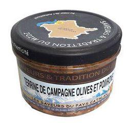 Terrine de Campagne Olives et Poivrons, Bocal de 190g, SAVEURS & TRADITION DU MIDI
