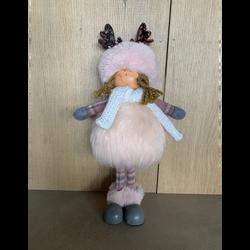 Figurine fille en polyester 38,5cm rose