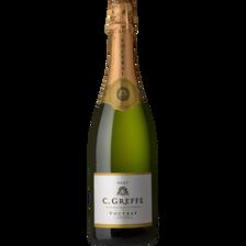 Vouvray Vin Blanc Pétillant  Brut Méthode Traditionnelle C.greffe, 12°,bouteille De 75cl